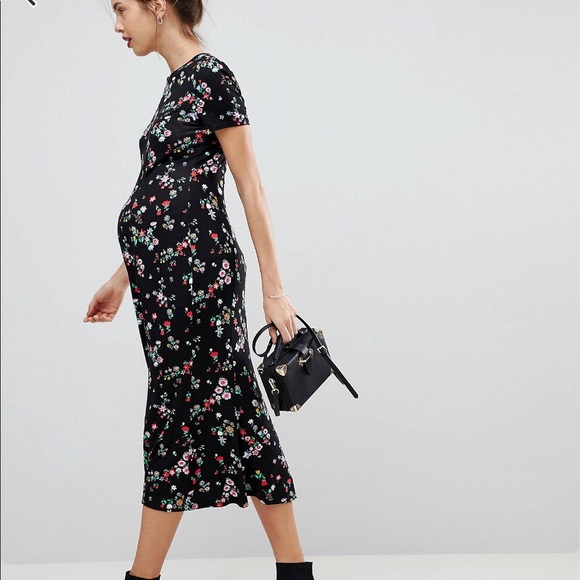 95b94aa5486 ASOS Maternity Dresses   Skirts - ASOS Maternity Black floral dress